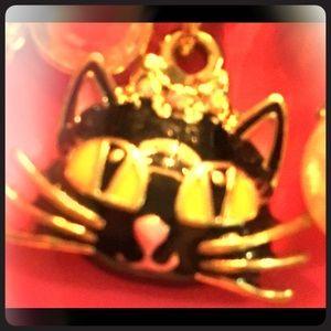 Meow Charm bracelet 4mega cat lovers w Girls Patch